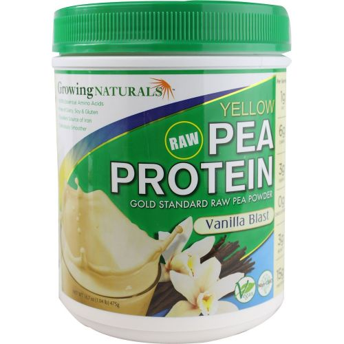 Growing Naturals Gold Standard Raw Yellow Pea Protein Powder Vanilla