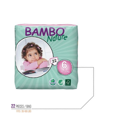 Bambo Nature Midi Baby Diapers - 198 pieces in case