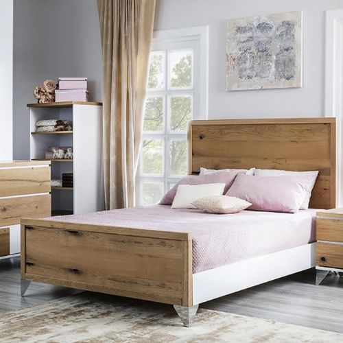 Romina Pandora Full Bed Oak...